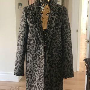 Bar III cheetah trench coat @ knee length